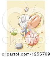 Clipart Of Sports Balls Colliding Royalty Free Vector Illustration