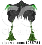 Clipart Of A Halloween Party Entrance Arch Of A Ghost Royalty Free Vector Illustration