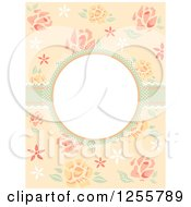 Clipart Of A Shabby Chic Rose Frame Royalty Free Vector Illustration