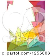 Clipart Of A Colorful Geometric Background With Text Space Royalty Free Vector Illustration by BNP Design Studio