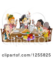 Group Of Pirates Celebrating At A Feast