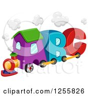 Clipart Of A Colorful Abc Alphabet Letter Train Royalty Free Vector Illustration