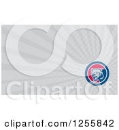 Clipart Of A Bear Business Card Design Royalty Free Illustration