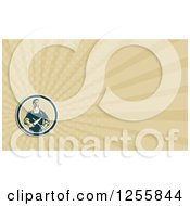 Clipart Of A Butcher Sharpening Knives Business Card Design Royalty Free Illustration