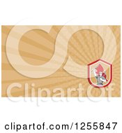 Clipart Of A Coal Miner Business Card Design Royalty Free Illustration