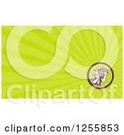 Clipart Of A Retro Farmer Carrying A Harvest Bushel Business Card Design Royalty Free Illustration