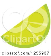 Clipart Of A Tropical Lime Wedge Fruit Royalty Free Vector Illustration