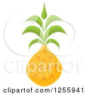 Clipart Of A Tropical Pineapple Fruit Royalty Free Vector Illustration