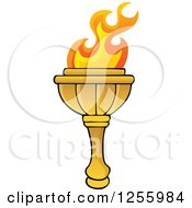 Clipart Of A Greek Torch Royalty Free Vector Illustration