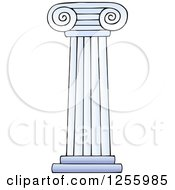 Clipart Of A Greek Pillar Column Royalty Free Vector Illustration