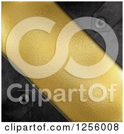 Clipart Of A 3d Gold Texture Panel And Metal Royalty Free Illustration