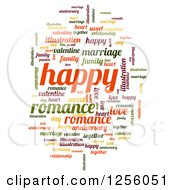 Clipart Of A Romance Tag Word Collage On White Royalty Free Illustration by oboy