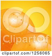 Clipart Of 3d Orange Globes With Network Connections Royalty Free Vector Illustration by elaineitalia