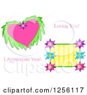 Floral Heart And Flowers With Loving You And I Appreciate You Text