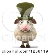 Clipart Of A 3d Irish Sheep Royalty Free Illustration by Julos
