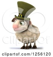 Clipart Of A 3d Irish Sheep Royalty Free Illustration