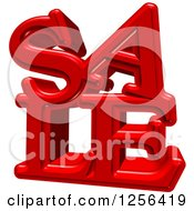 3d Red SALE Text Over White
