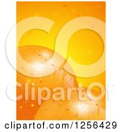 Clipart Of 3d Orange Spheres With Network Connections Royalty Free Vector Illustration