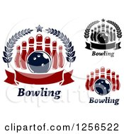 Poster, Art Print Of Bowling Balls And Pins With Text