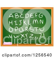 Clipart Of A School Chalkboard With Capital Letters And Punctuation Royalty Free Vector Illustration