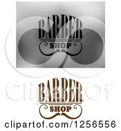 Clipart Of Barbershop Designs Royalty Free Vector Illustration