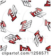 Clipart Of A Seamless Racing Muffler Background Pattern Royalty Free Vector Illustration