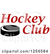 Clipart Of A Black And White Puck With Hockey Puck Text Royalty Free Vector Illustration