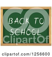 Clipart Of A Back To School Chalkboard Royalty Free Vector Illustration by Vector Tradition SM