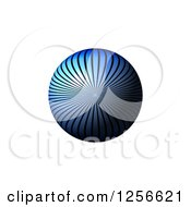 Clipart Of A 3d Blue Ray Sphere On White Royalty Free Illustration