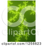 Clipart Of A Green Mandelbrot Fractal Background Royalty Free Illustration