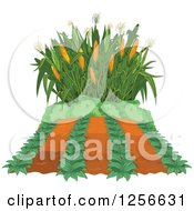 Clipart Of A Crop And Corn Maze Royalty Free Vector Illustration