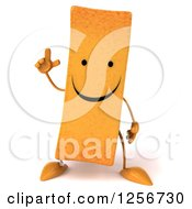 Clipart Of A 3d Happy French Fry Character With An Idea Royalty Free Illustration