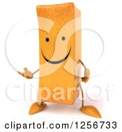 Clipart Of A 3d Happy French Fry Character Presenting Royalty Free Illustration