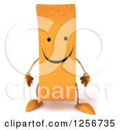 Clipart Of A 3d Happy French Fry Character Royalty Free Illustration