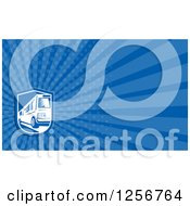Clipart Of A Woodcut Bus Business Card Design Royalty Free Illustration by patrimonio