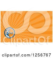 Retro Woodcut Spray Painter Business Card Design