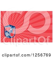 Clipart Of A Retro Woodcut Patriot Soldier Ringing The Liberty Bell Business Card Design Royalty Free Illustration