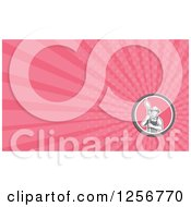 Clipart Of A Retro Male Artist Or Painter Business Card Design Royalty Free Illustration by patrimonio