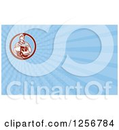 Clipart Of A Retro Delivery Man And Truck Business Card Design Royalty Free Illustration by patrimonio