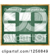 Clipart Of Scirbbles On A Chalkboard Royalty Free Vector Illustration