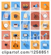 Clipart Of Computer And Gadget Icons Royalty Free Vector Illustration