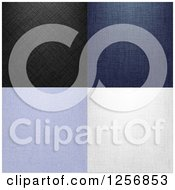 Clipart Of Denim Jean Textures Royalty Free Vector Illustration