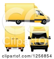 3d Yellow Moving Vans