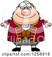 Clipart Of A Chubby Benjamin Franklin Royalty Free Vector Illustration by Cory Thoman