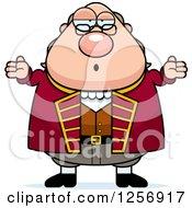 Careless Shrugging Chubby Benjamin Franklin