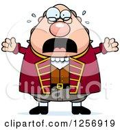 Scared Screaming Chubby Benjamin Franklin