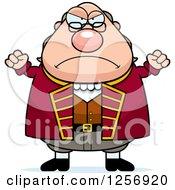 Mad Chubby Benjamin Franklin Waving His Fists