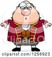 Clipart Of A Surprised Chubby Benjamin Franklin Royalty Free Vector Illustration by Cory Thoman