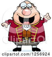 Clipart Of A Chubby Benjamin Franklin With An Idea Royalty Free Vector Illustration by Cory Thoman