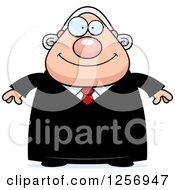 Happy Chubby Caucasian Male Judge